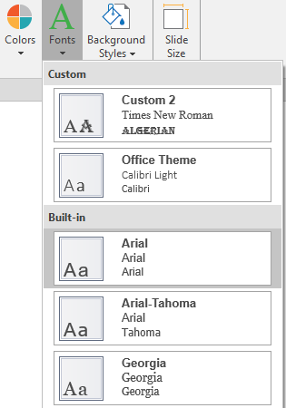 Working with Theme Fonts