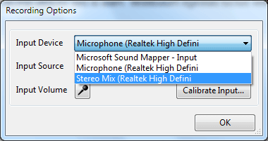 Select Stereo Mix to record system sound on your computer