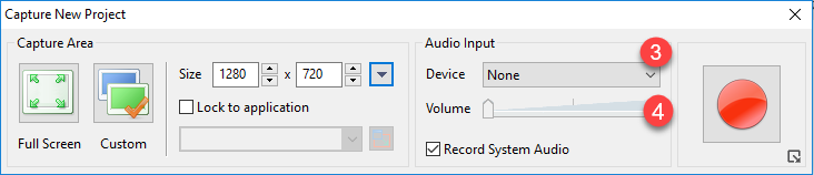 record audio from microphone