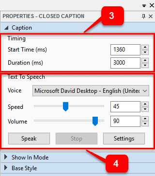 Closed Caption Text To Speech