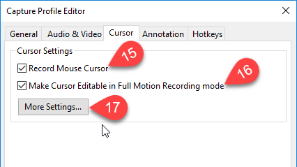Capture Profile Editor