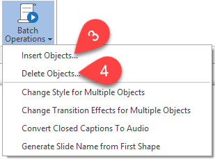inserting multiple objects