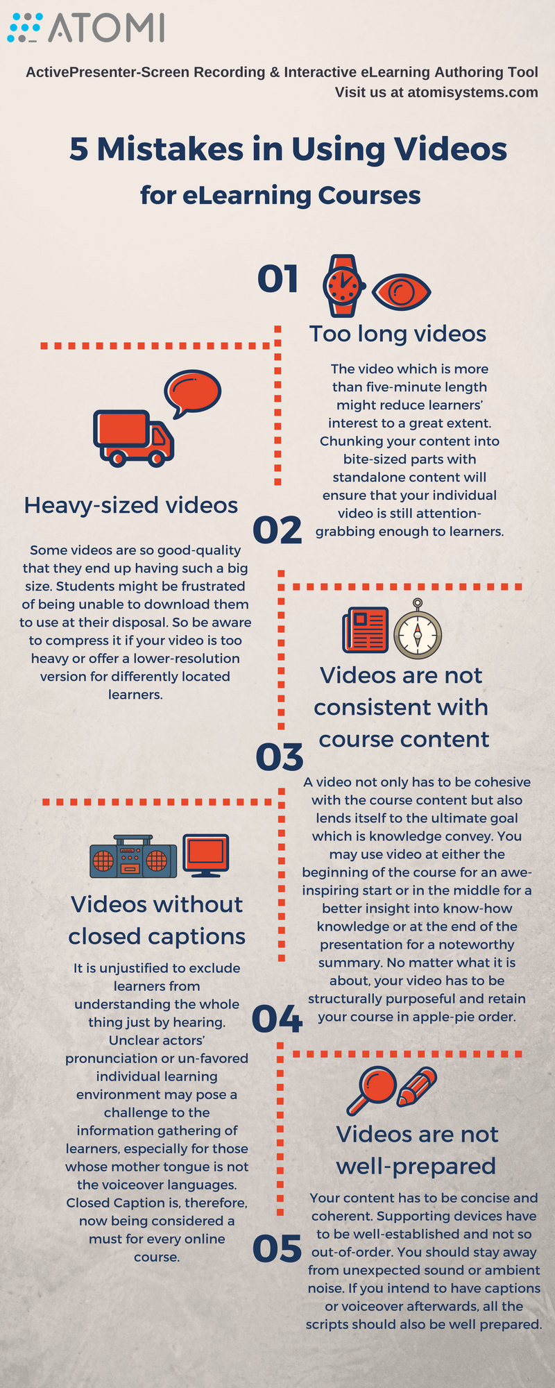 Mistakes in using videos for eLearning courses