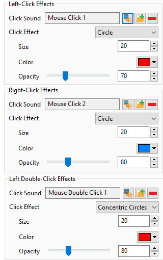 mouse click and effects