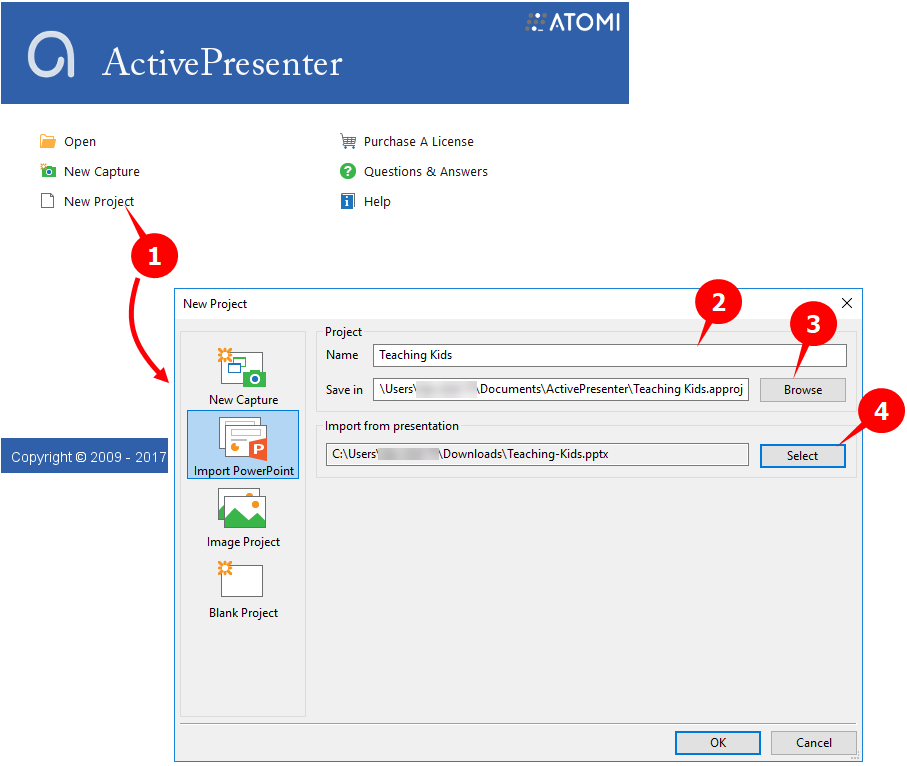 convert Powerpoint into video with ActivePresenter