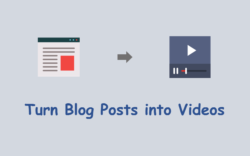 turn blog posts into videos