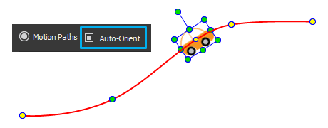 Orient elements in relation to the direction of the path.