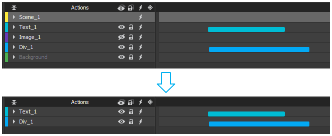 Filter out elements that contain no animation at all.