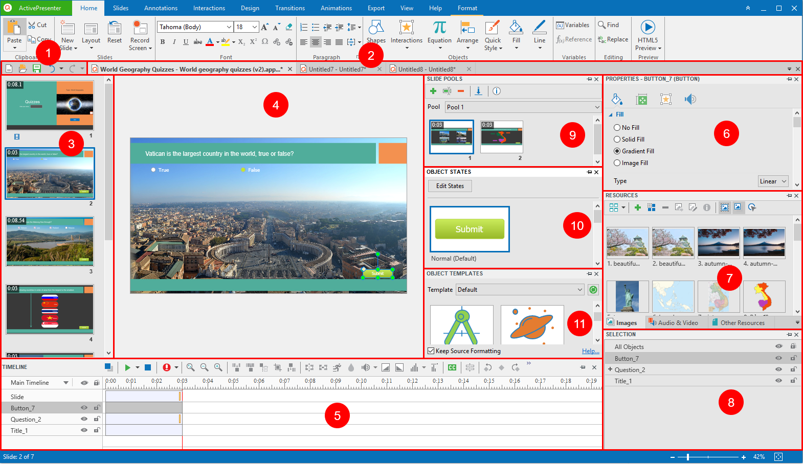 Introducing ActivePresenter 7 User Interface