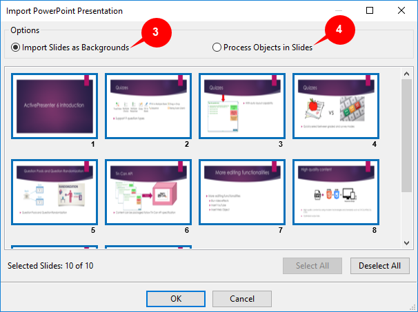 Import PowerPoint Presentation