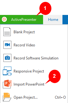 Import PowerPoint Project