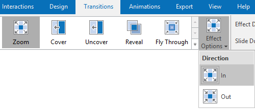 Zoom Effect in Transition tab