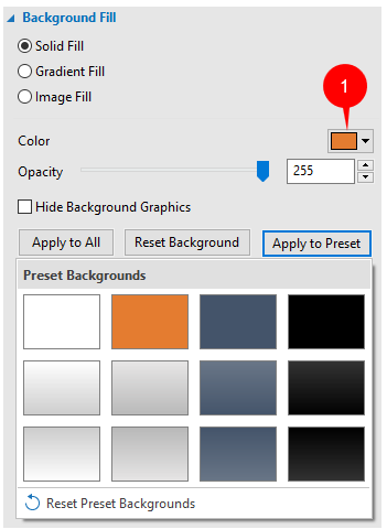 Working with Preset Background Styles