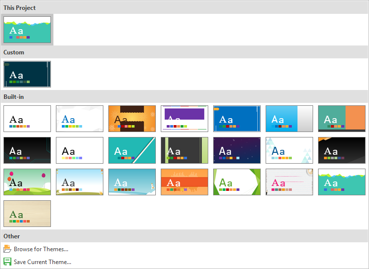 Using Themes in ActivePresenter 7