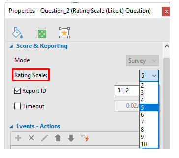 Rating Scale Question in ActivePresenter