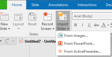 Importing Images as Slides