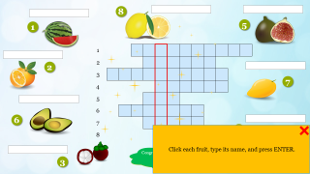 Fruit Names – Crosswords
