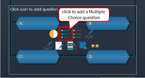 Add a Multiple Choice question to the question slide.