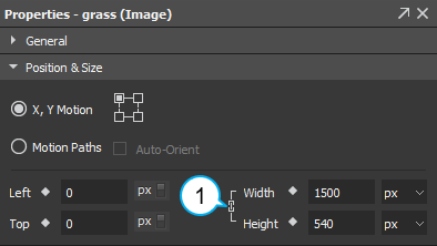 Image elements maintain their aspect ratio by default.