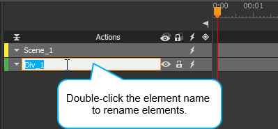 Rename elements after inserting them into a scene.