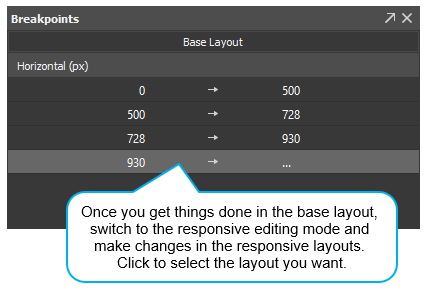 Animate in the base layout first and later make changes in the responsive layouts.
