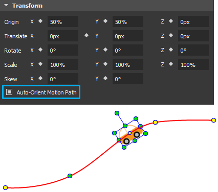 The Auto-Orient Motion Path check box is enabled only if the element already has a motion path.