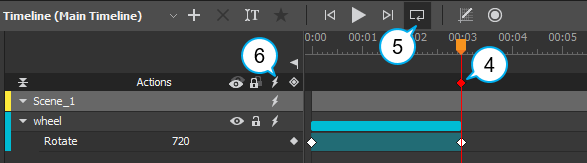 Loop playback inside the editor to preview.