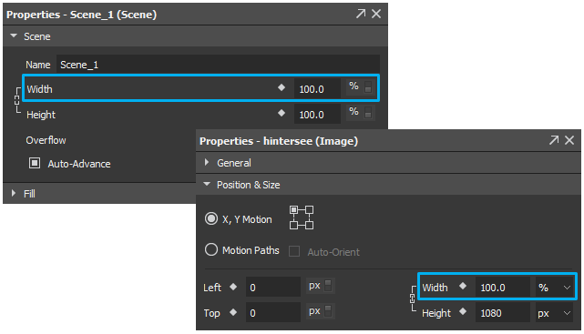 Flexible layout uses percentage units to keep eleemnt's position and size relative to its parent.