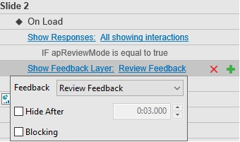 Select Review Feedback to see two check boxes.