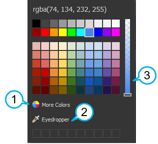 Click the Color button to open the color picker.
