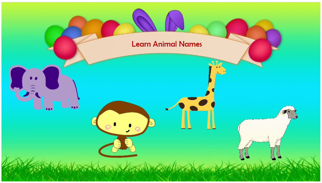Learn Animal Name Game - an interactive game created in ActivePresenter
