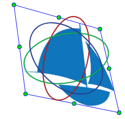 3D rotate tool to rotate the selected element