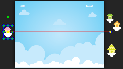 A red line indicates the path of the motion.
