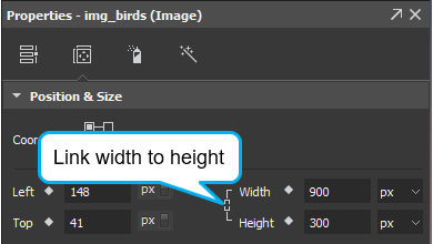 If you want to freely change its size, just clear the Link width to height check box (the chain icon) in the Position & Size section of the Properties pane.