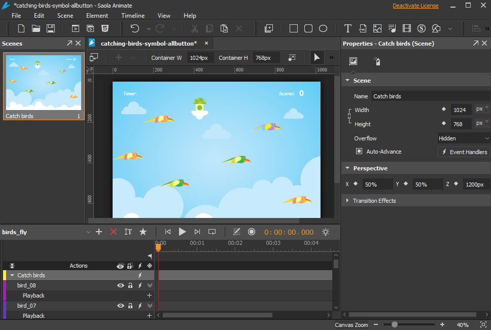 Saola Animate by Atomi Systems is an ultimate tool to create HTML5 animations and interactive web contents using an user-friendly and integrated visual interface.