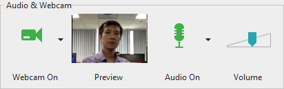 Audio & Webcam section in Recording