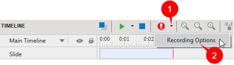 Calibrate Audio Input When Recording Narration Only
