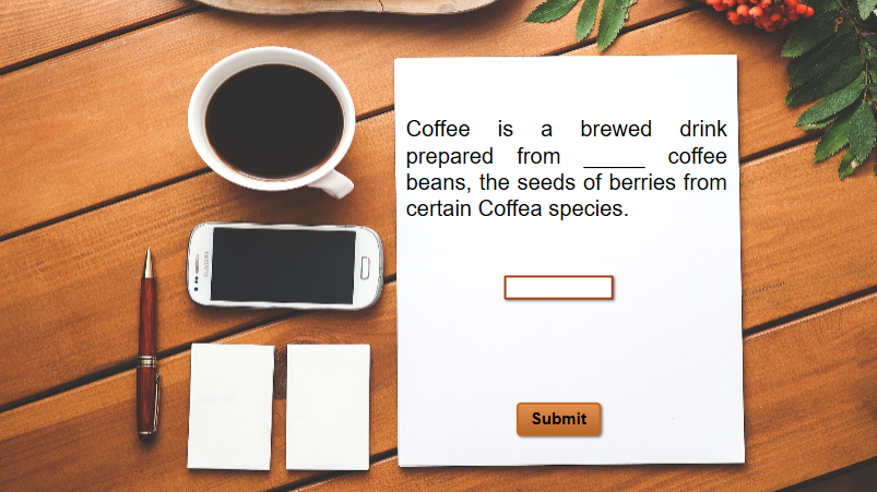 Fill in Text Entry Question Created in ActivePresenter 8