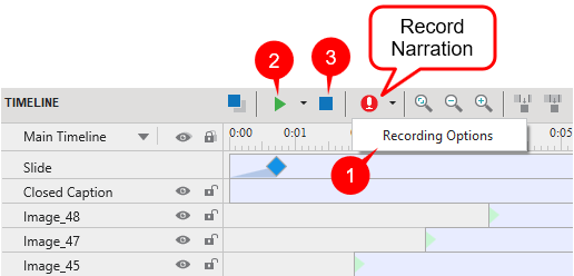 Record Narration in Timeline