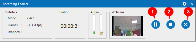 To show the Recording Toolbar dialog, click the ActivePresenter icon in the system tray.