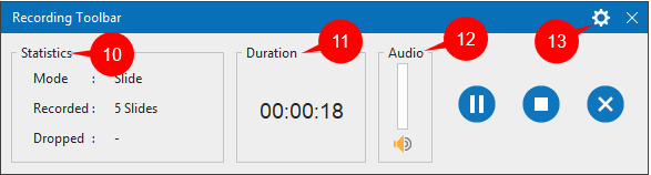 Work with Recording Toolbar