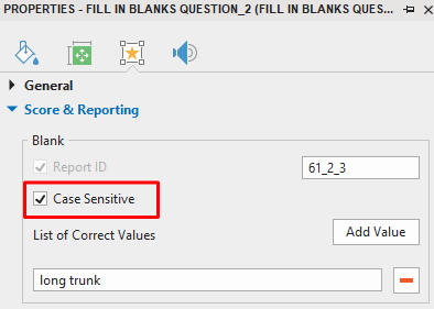 Set Case Sensitive for each Blank