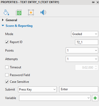 Set Score and Reporting for FTE