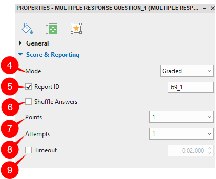 Set Score and Reporting for MR Questions