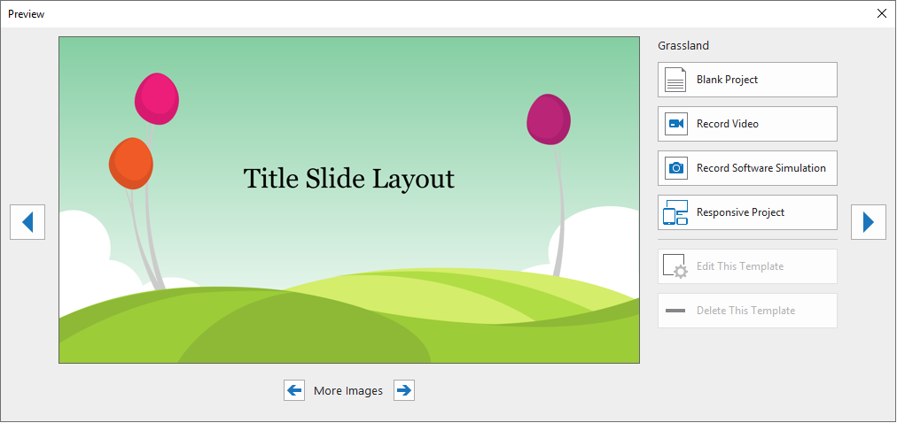 A template can contain layouts, theme colors, theme fonts, theme effects, background styles, and even contents.
