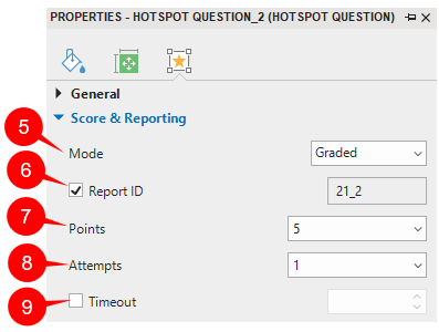 Score & Reporting Hotspot question