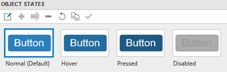 4 Default States of Button