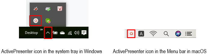 ActivePresenter icon in Windows and macOS