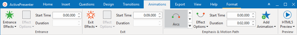 Access the Animation tab to add animation to objects