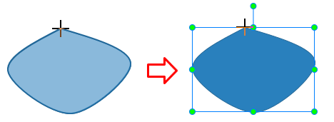 To close the curve, move the mouse to the start point and click to set the end point.